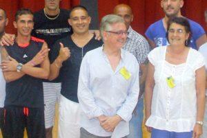 CADIZ prison officials with students