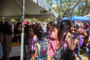 Students at CSUN Club Fair