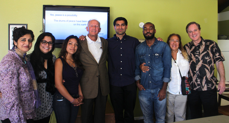 Victor Kamont (center) with CSUN Peace Club Members