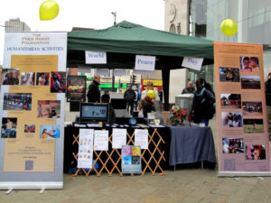 TPRF Peace Day Booth in Leicester UK