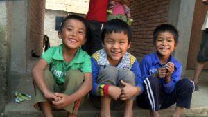 Three boys in Nepal