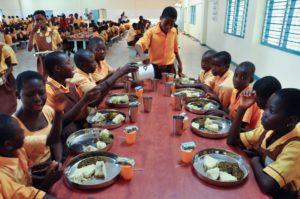Kids at table long shot