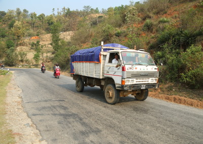 A truck of supplies heads to Sindhupalchok, one of the areas hit hardest.