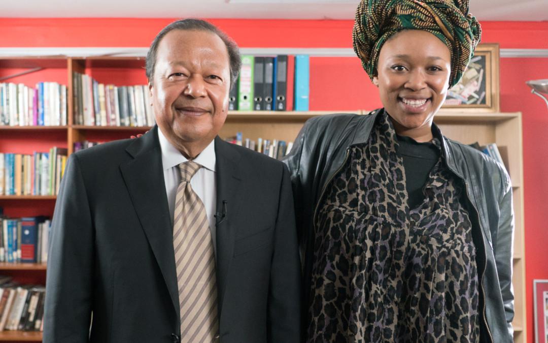 Prem Rawat & Lumka Ngxoli at an interview for Cape Town TV
