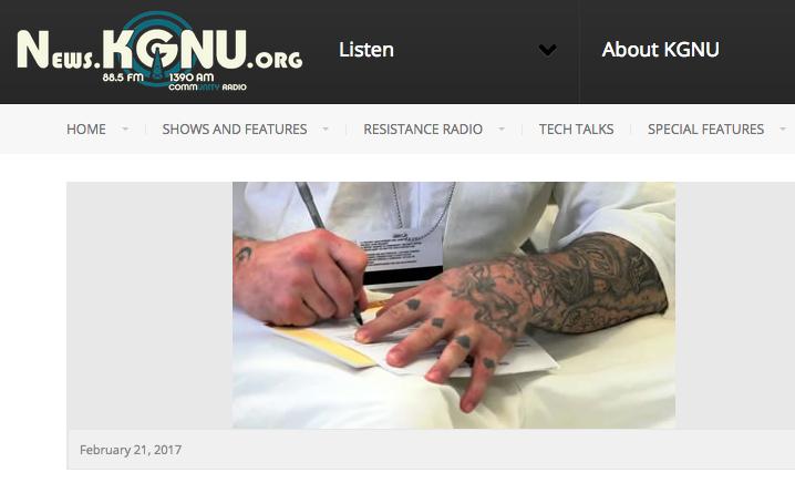 Une radio du Colorado parle de l'éducation pourlapaix