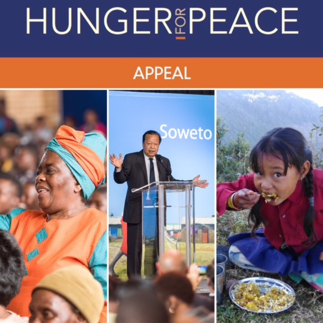 "Supporters Raise $162,824 During ""Hunger for Peace Appeal"""