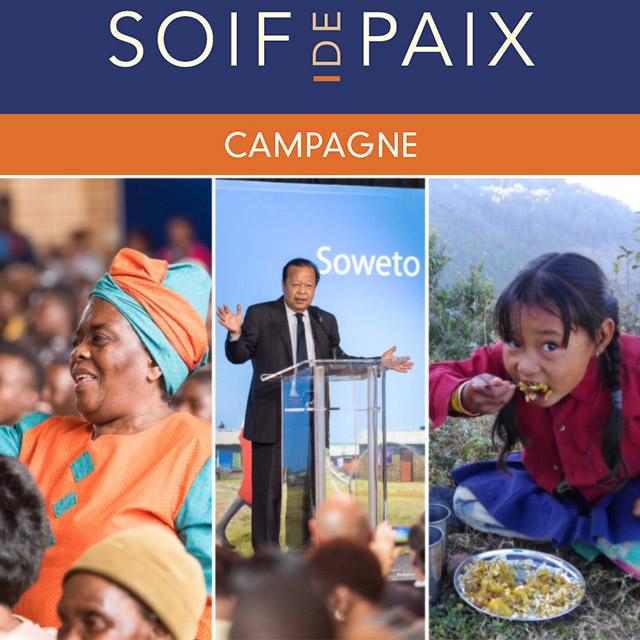 """La campagne """"Soif de Paix"""" a recueilli 162824$"""