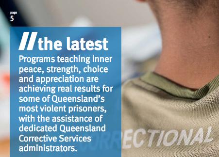 """La rivista """"Correction News"""" parla del successo del programma di educazione alla pace nel Queensland, in Australia"""