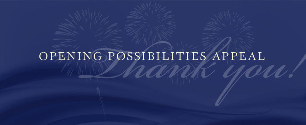 TPRF Opening Possibilities banner