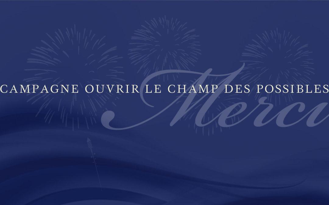 """La campagne """"Ouvrir le champ des possibles"""" arecueilli 169996$ au profit de la Fondation PremRawat"""