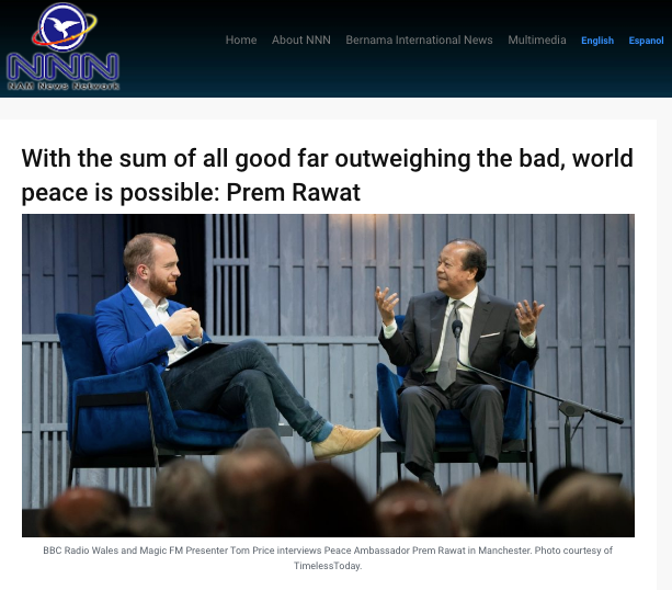 Nam News Covers Prem Rawat, Peace Education