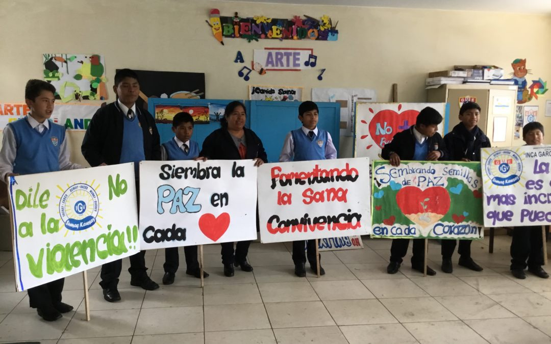 El programa de Educación para la paz ayuda a los jóvenes a crear una Cultura de Paz en Cuzco