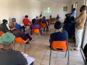Peace Education Program facilitators at a homeless shelter