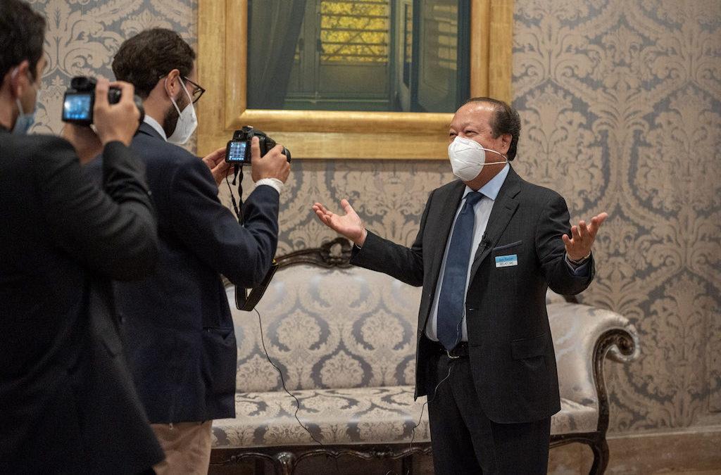 Italian news media covered Prem Rawat and the Peace Education Program at the Italian Senate